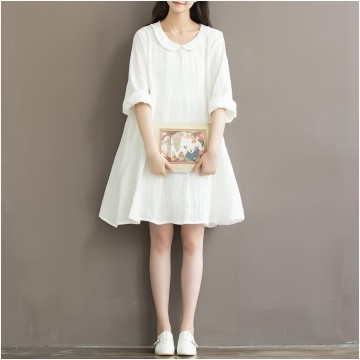 TE1632MLCS Literature and art embroidery peter pan collar vintage dress