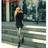 TE1635RHDM Korean fashion loose turtleneck large size t-shirt