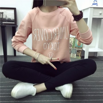 TE1656MLCS Letters print irregular fresh cotton sweatshirt