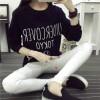 TE1656MLCS Letters print irregular fresh cotton sweatshirt
