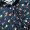 TE1665MLCS Shivering print long sleeve bowtie neck loose dress