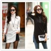 TE2142ALFS Turtle neck slim slit pullover long sweater