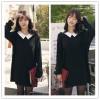 TE2143ALFS Korean fashion sweet shirt collar joker dress