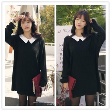 TE2143ALFS Korean fashion sweet shirt collar joker dress