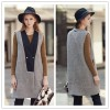 TE2145ALFS Europe fashion warm sleeveless long coat