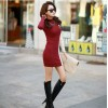 TE2709XYD Korean fashion contract color splicing slim dress