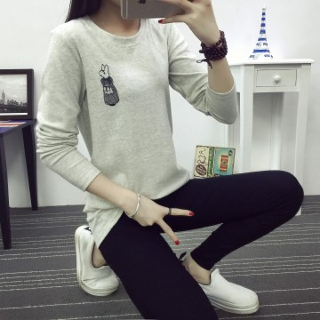 TE2816MLCS Japanese fashion cartoon print cute long sleeve t-shirt