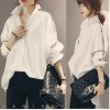 TE3366XLZ Japanese fashion vintage batwing sleeve loose blouse