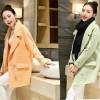 TE3910BDKJ Japanese double-breasted embroidery birds sleeve woolen coat