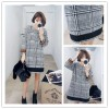 TE6303YZS Thicken woolen color matching checks dress