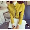 TE8280BLFS Stereoscopic clipping pockets cartoon ornament short coat