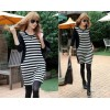 TE8309HPG Korean fashion stripes color matching dress