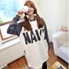 TE8318HPG Loose letters print color matching pocket hoodie
