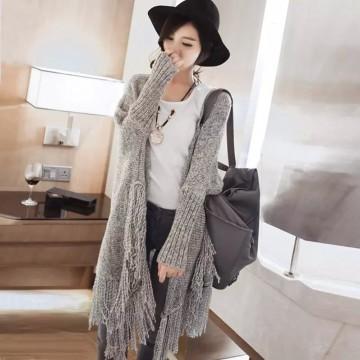 TE86206JYS Korean fashion tassel knitting cardigan