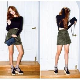 TE8806MQFS Korean style pure color cotton short slim t-shirt