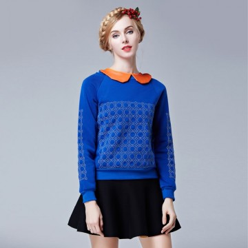 TE9086LLYG Winter new style embroidery pullover sweatshirt