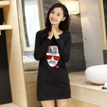 TE9114JDYJ Autumn casual wool lining digital print backing shirt