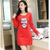 TE9114JDYJ Autumn casual wool lining digital print backing shirt