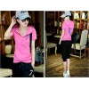 TE1089ALAB Summer fashion short sleeve t-shirt with cropped trousers tracksuit