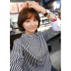 TE1188CND Sweet contract color stripes joker blouse
