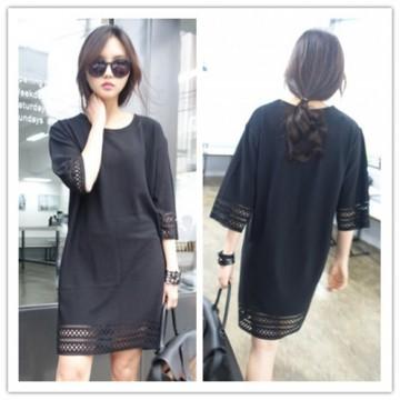 TE1232GJWL Korean fashion casual burn out dress
