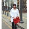 TE1240GJWL Korean fashion lacing back loose blouse