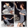 TE1241GJWL Sexy backless stripes tight hip dress