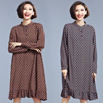 TE1550XEKJ Shivering flouncing loose large size dress