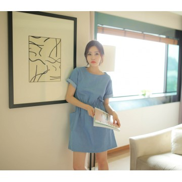 TE2175ALFS Spring new style sweet denim pocket dress