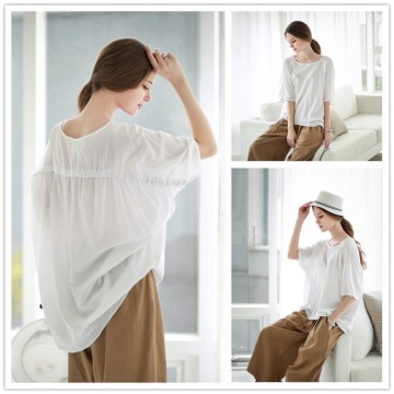 TE2179ALFS Europe fashion loose large size irregular pullover blouse