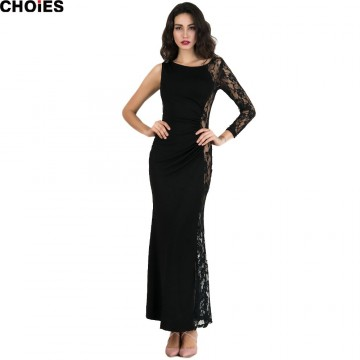 TE2253XYD Ebay hot sale lace splicing sexy hollow out fishtail maxi dress