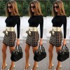 TE5112EQFS Hot sale fashion sexy print splicing tight hip dress