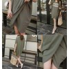 TE5727JZYS Slit casual letters print dress
