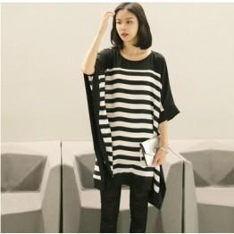 TE5728JZYS Slim stripes long t-shirt