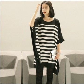 TE5728JZYS Slim stripes long t-shirt