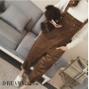 TE6176XYWL Korean preppy style loose corduroy overalls