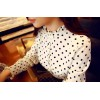 TE6618JZFS Spring new style dot fresh long sleeve chiffon shirt