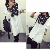 TE6803AYY New style stars print irregular long blouse