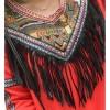 TE6806AYY National style v neck tassel embroidery dress