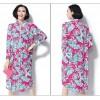 TE7383HSJP Europe fashion temperament print large size dress