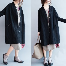 TE7610HSJP Casual large size fashion long cardigan