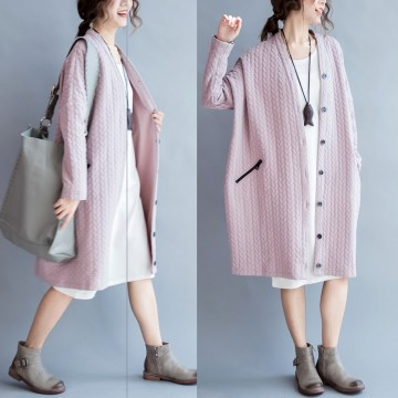 TE7667HSJP New style casual large size fashion long cardigan