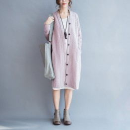 TE7667HSJP New style casual large size fashion long cardigan