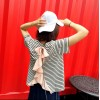 TE8100VVNL Pink flouncing back stripes t-shirt