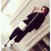 TE9096YSFS Fashion loose hoodie with wide leg pants