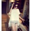 TE9380ATSS Spring fashion loose tassel pullover tops