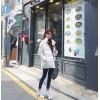 TE9415BDJN Preppy style zipper joker cotton-padded coat