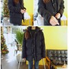 TE9415BDJN Preppy style zipper joker cotton-padded coat