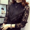 TE9882WDSD Plus size slim hollow out tassel long sleeve lace dress