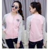 TE9903LLJ New style stand collar color matching baseball jacket